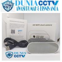 IP Camera Clock Wifi Ip Kamera Jam Meja Wifi Spy Cam Jam Wifi - OVAL