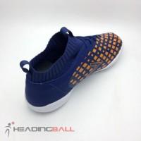 Sepatu Futsal Mitre Original Invader IN Navy Citrus Orange T01040002 .