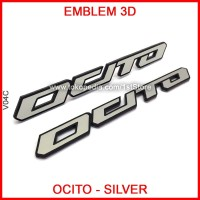 Emblem Ocito Silver Logo Stiker 3D Badge Yamaha Nmax Eropa Aksesoris