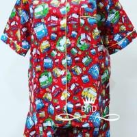 Baju Tidur Setelan Dewasa Pajamas Tayo The Little Bus Piyama mainan