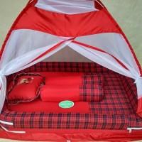 kasur bayi bess kelambu tenda warna tua - Merah