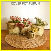 Purun Reguler / cover pot anyaman purun / Bakul Purun,