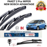 Wiper Mobil Kaca Depan Honda Jazz RS Original Bosch 2pcs Kn-Kr