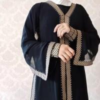 baju muslim abaya gamIs hitam Arab Saudi syari asdf
