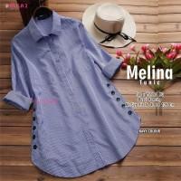 kemeja wanita real pict baju atasan wanita blouse terbaru-melina tunik