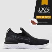 Sepatu Running Original Nike Epic Phantom React Flyknit - Black/White