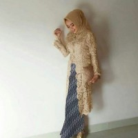 setelan batik kebaya wanita - baju kondangan mewah - baju muslim