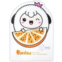 Puttisu Masker Wajah Anak - Real Fruits Sheet Mask Orange