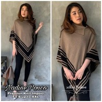 New Nadine Ponco Rajut Import / Baju Atasan Sweater Wanita Terbaru