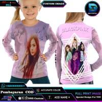 T-shirt Kaos Anak Fullprint Blackpink Lengan Panjang Murah Meriah