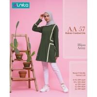 Baju Atasan Wanita Muslimah Dewasa Alnita AA 57 Coklat & Hijau