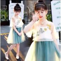 Dress imlek Anak perempuan,Gaun cheongsan baju china