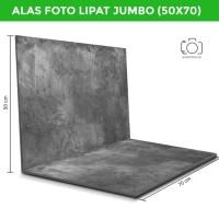 Alas Foto Lipat Jumbo Semen Abu 50x70cm / Background Foto (CLJ-05)