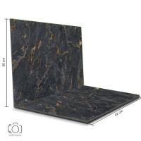 Alas Foto Lipat Marble Hitam 42x30 cm / Background Foto marmer (ML-08)