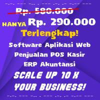 Terlengkap! Software Aplikasi Web Penjualan POS Sales Akuntansi ERP