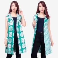 2in1 Atasan Blouse Rea Blazer Outer Tunik Cardigan Bolero Batik Wanita