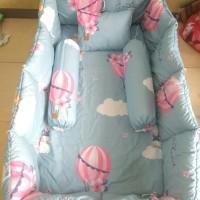 bumper box baby tanpa bedcover motif air ballon