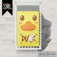 Selimut Bayi / Baby Blanket / Baby Bedsheet / Badcover - Duck 001 - S
