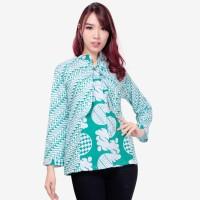 Atasan Blouse Adixa Lengan Panjang Kemeja Batik Wanita
