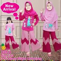 Little Pineapple Baju Muslim Anak Frozen Kulot Plisket 325-2