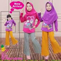 Little Pineapple Baju Muslim Anak Frozen Kulot Plisket 321-3