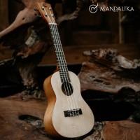 Ukulele Concert Mandalika Coklat Muda Original Concerto Full Set
