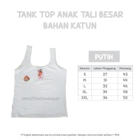 Tank Top Anak Katun Spandek Tali Besar Size L (Daleman Anak Spandex)