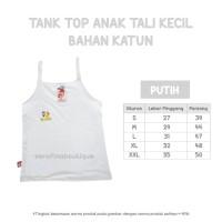 Tank Top Anak Katun Spandek Tali Kecil Size XXL- Daleman Anak Cotton