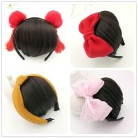 ORI Import Wig Anak Bando Pita Chinese Imlek Snow White Merah Pink