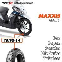 Maxxis MA 3D 70/90-14 Ban Depan Standar Yamaha Mio J Z Sporty Soul M3