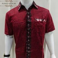 Kemeja Batik Pria Lengan Pendek Murah Baju Batik Cowok Simple