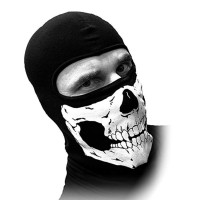 masker ninja tengkorak balaclava topeng motor kepala helm sarung hitam
