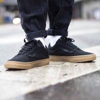 Sepatu Vans Old Skool Hitam/Black GUM PREMIUM