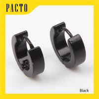ANTING JEPIT PRIA TINDIK - NO MAGNET TITANIUM STEEL 2 PCS (1 PASANG)