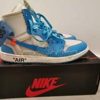 NIKE AIR jordan 1 X OFF WHITE POWDER BLUE sepatu import murah