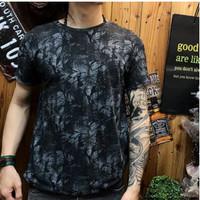 Kaos distro pria black abstrak painted kaos pria T shirt pria Murah