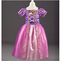 Baju kostum cosplay dress princess rapunzel anak hadiah ulang tahun