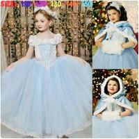 Baju kostum gaun dress princess cinderella hadiah ulang tahun anak