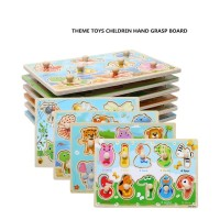 Puzzle kayu anak, Puzzle mainan Knob, Puzzle kayu knop mini anak