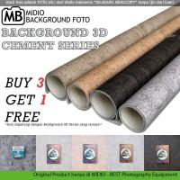 Alas Foto 3D Midio Motif Cement Background Foto 3D Ukuran 53x100cm