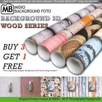 Alas Foto 3D Midio Motif Kayu Background Foto 3D Ukuran 53x100cm