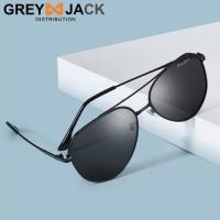 Grey Jack aviator sunglasses fashion pria terbaru polarized 3074