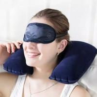 Bantal Leher Untuk Traveling Travel Neck Pillow
