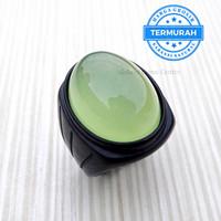 Cincin Batu Natural Apple Green Chalsedony Batu Akik Original - 7