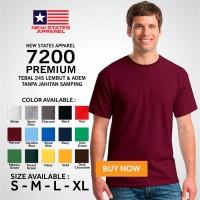 Kaos Polos NSA 7200 Premium Cotton T shirt Original Murah S M L XL