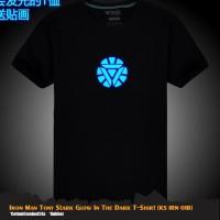 Kaos Glow In The Dark Tony Stark Ironman Tees Anime T-shirt KS IRN 01B