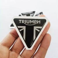 STIKER MOTOR / MOBIL STIKER HELM TIMBUL AKSESORIS HELM TRIUMPH