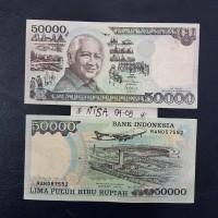 UP051 UANG KUNO 50RB PAK HARTO TH 1995 UANG KOLEKSI MAHAR NIKAH