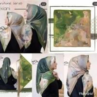 Hijab Segi Empat Deenay Kw Motif Kiani Hijau