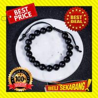 GELANG BATU PRIA WANITA NATURAL BLACK ONYX / GELANG BATU BLACK JADE G3